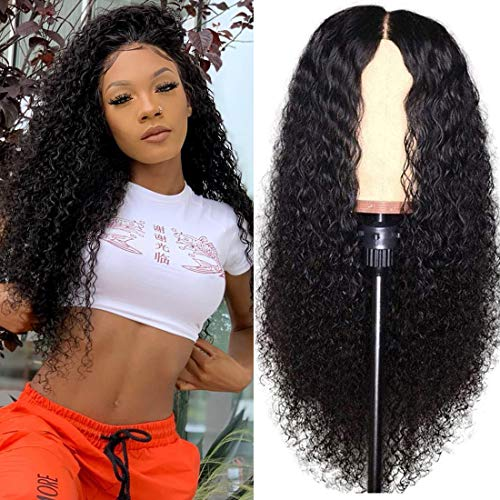 Julia Hair Brazilian Curly Lace Front Human Hair Wig with Baby Hair 100% Unprocessed Virgin Hair Natural Remy Brazilian Wig for Women (16inch)