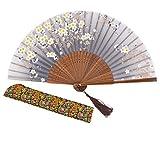 meifan Chinese/Japanese Handmade Handheld Folding Fan (Gray-A)