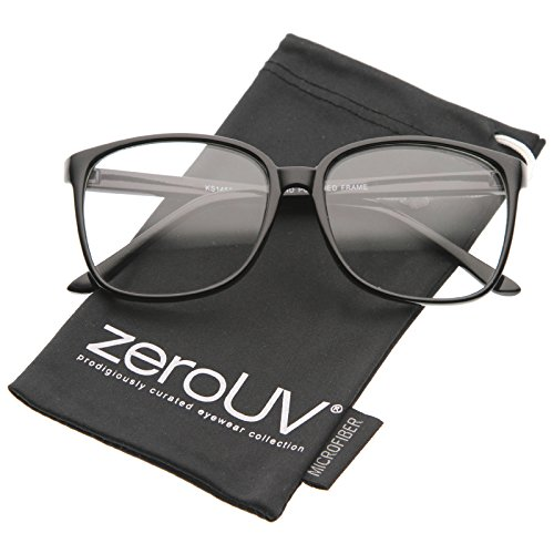 zeroUV - Contemporary Casual Oversize Thin Frame Clear Lens Square Glasses 57mm - Warby Best Parker Sunglasses