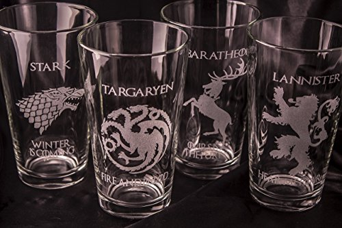 Game of Thrones Pint Glasses - Set of 4