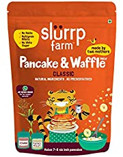 Slurrp Farm American Classic Vanilla Pancake Mix, No Wheat Flour, Refined Flour or Starch, Made with Millets Gluten Free Grains, Vegan and Dairy Free Healthy Snack, With Real Vanilla, 150g