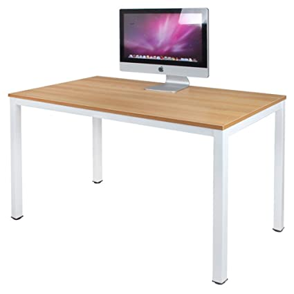 DlandHome 47u0026quot; Medium Computer Desk, Composite Wood Board, Decent U0026  Steady Home Office