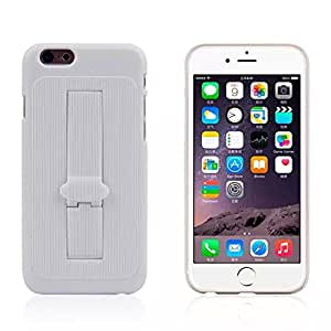 Kujian iphone 6 Plus Armor Case With Built-in Support 8 colors Advanced Armour Hard Hybrid Protecting Skins Military Transformer Style Carrying Case Holster Combo Streak Cover 5.5 inches (White)