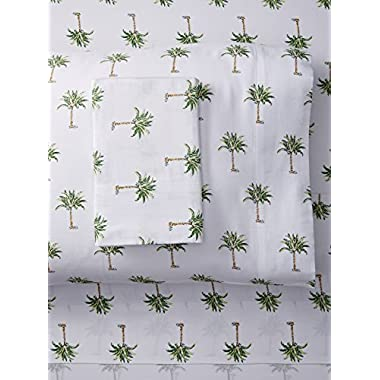 Panama Jack Palm Tree 300 Thread Count Cotton Sheet Set; Queen