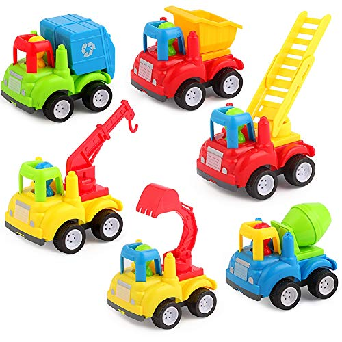 Truck Eco Excavator - Friction Powered Cars Trucks Educational Present Toys for 1 2 Year Old Boy Girl Babies