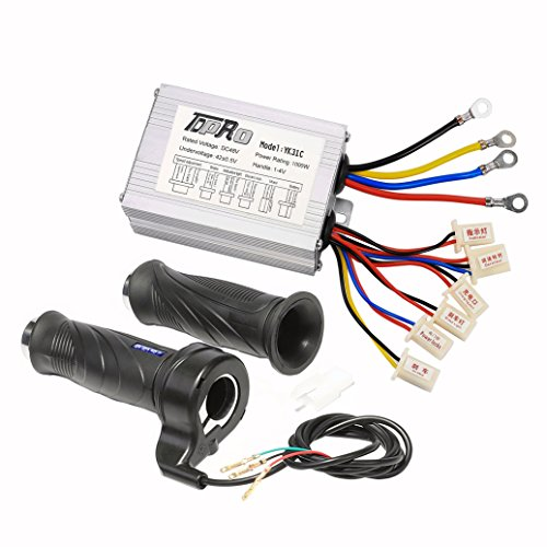 Price comparison product image TDPRO 48V 1000W Brush Speed Motor Controller and Throttle Grip for Electric Scooter Bicycle e-Bike Tricycle