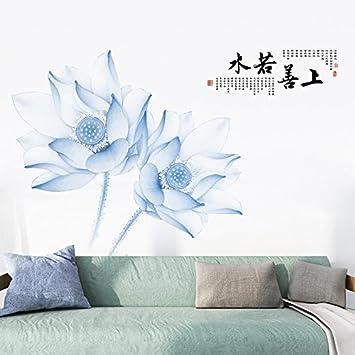 Secondstep Lotus Flower Zimmer Bett Fernsehen Hintergrund Wand
