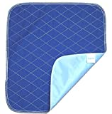 Ultra Waterproof Washable Seat Pad (20x 22in) For Incontinence - Adult, Children, or Pet Underpad Protection - Triple Layer Chair Protector Design, 24 ounce Absorbency (Navy Blue) by BrightCare