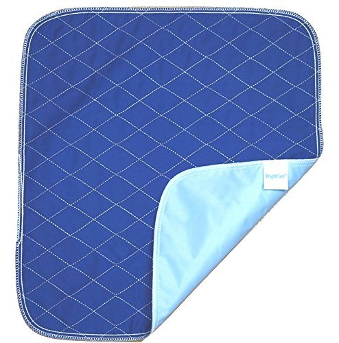 Ultra Waterproof Washable Seat Pad (20x 22in) For Incontinence - Seniors, Adult, Children, or Pet Underpad Protection - Triple Layer Chair Cover Protector, 24 oz Absorbency (Navy Blue) by BrightCare