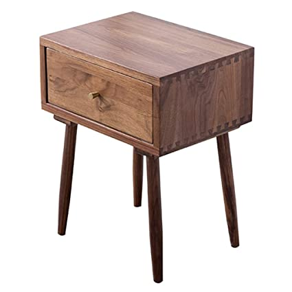 Bon Amazon.com: Black Walnut Bedside Table With Drawers High Design For Living  Room Bedroom Storage: Kitchen U0026 Dining