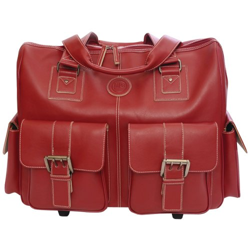 Jill-e Leather Rolling Camera Bag Large (Red) - 897596