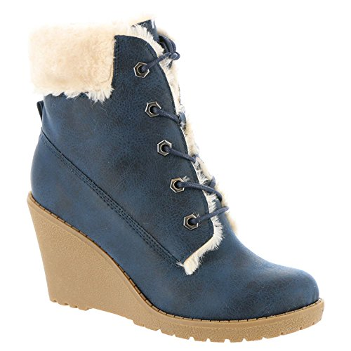 Mojo Moxy Dolce Door Fresco Wedge Enkellaars Booties - Marine