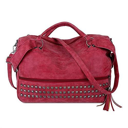 épaule D Diagonale Casual Fashion Portable Sac Sacs Versatile Rivet LANGUANGLIN Main à Grande Trend A Capacité W81nZxxgwq