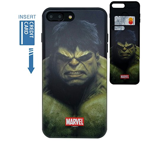 [iPhone 7 Plus Wallet Case/iPhone 8 Plus Wallet Case] KUBRICK Card Holder Slide Cover Bumper Phone Case Dual Layer Protection UV Printing (Hulk) Review