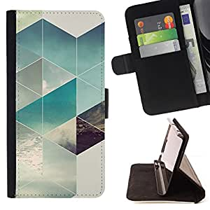 /Skull Market/ - POLYGON SURF SUMMER SUN PATTERN For Samsung Galaxy S5 Mini, SM-G800 - Caja de la carpeta del tir???¡¯???€????€???????