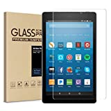 All-New Fire HD 8 Screen Protector,Tempered Glass Screen Protector Film for Kindle Fire HD 8 Tablet with Alexa (7th 2017 Release) [9H Hardness] [Crystal Clear] [Bubble Free]