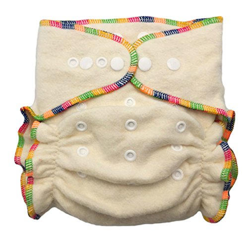 Hemp/Organic Cotton Fitted Cloth Diapers (Includes 2 Inserts; Fits 7-25lbs) (1 (Organic Fitted Cloth Diaper)