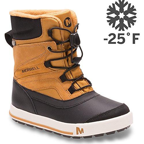 Merrell Kids' Unisex Ml-Snow Bank 2.0 Wtrpf Boot, Wheat/Black, 7 M US Big Kid