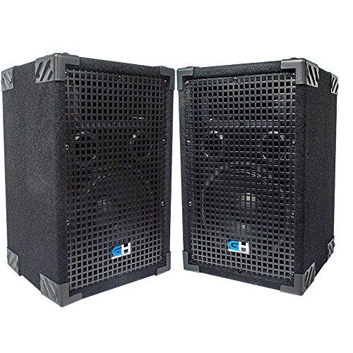 Grindhouse Speakers - GH8L-Pair - Pair of Passive 8 Inch 2-Way PA/DJ Loudspeaker Cabinet  - 500 Watt each Full Range PA/DJ Band Live Sound Speaker