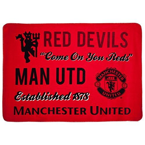 Official Manchester United FC Sherpa Fleece Blanket by