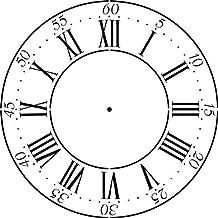Winterthur Roman Numeral Clockface Wall Stencil (18)