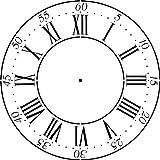 Winterthur Roman Numeral Clockface Wall Stencil- (12 -40 Inch) by Designer Stencils(18 Inch, 10 mil plastic)