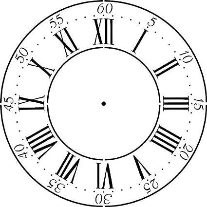 Winterthur Roman Numeral Clockface Wall Stencil (30)