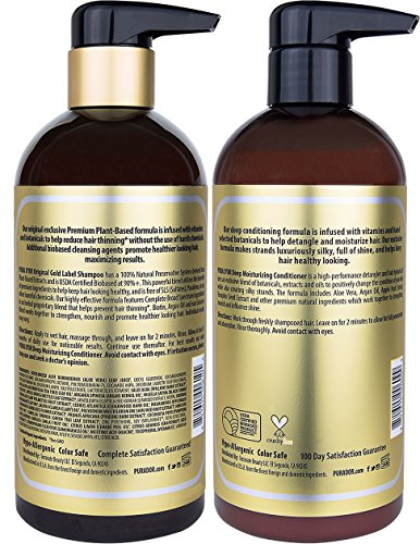 Buy organic shampoo and conditioner