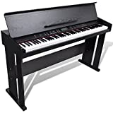 vidaXL Classic 88 Keys Electronic Piano Electric Keyboard Digital LCD w/ Music Stand