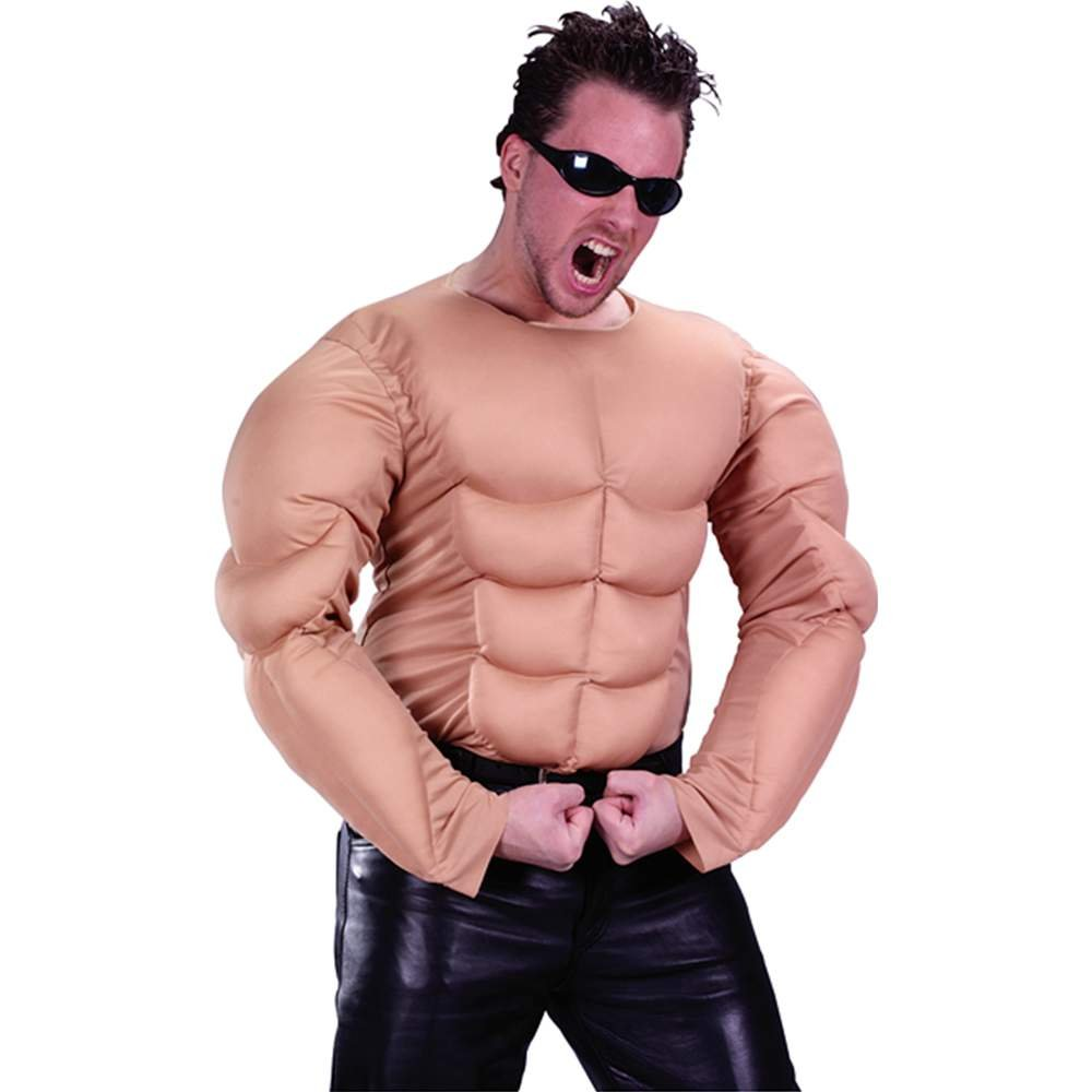 amazoncom adult muscle shirt costume toys games - Halloween Muscle