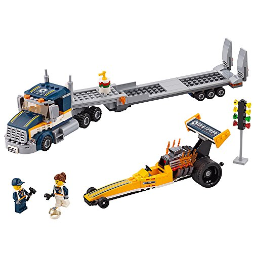 LEGO City Great Vehicles Dragster Transporter 60151 Building Toy