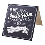 William & Douglas Instagram Hashtag Table Sign Place Cards For Wedding Event, Party or Celebration (5 Pack)