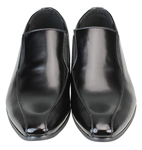 Mm / One Heren Schoenen Slipon Jurk Schoenen Oxford Laceup Schoenen Cadeau Schoenen Zwart Donker Bruin Wit Yompt112-4black