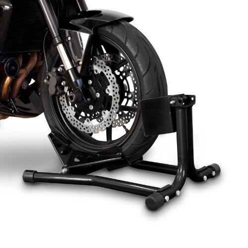 ConStands Easy - Motorcycle Stand Harley Davidson Sportster 883 Iron (XL 883 N) Paddock Front Wheel Chock Transport Universal Black