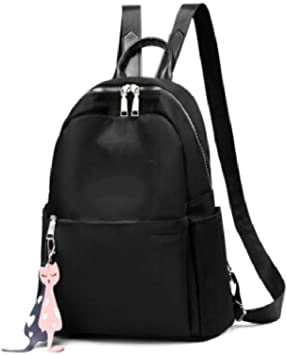 Womens Backpack Womens Large Capacity Canvas Backpack Black ...