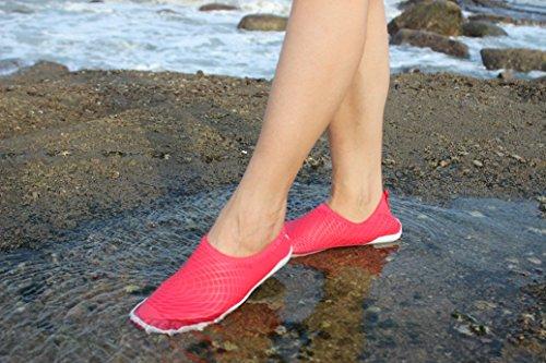 Infmetria Donna Uomo Bambini Scarpe Da Acqua Per Piscina Beach Surf Rosso