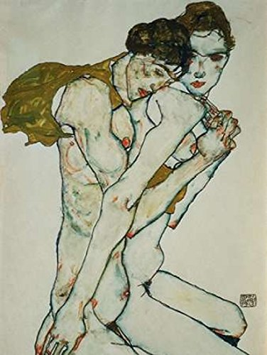 Egon Schiele Artwork - Friendship Poster Print by Egon Schiele (11 x 14)