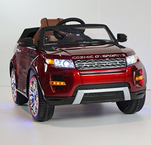 range rover style battery operated ride on car toy with remote control rideonecar sx 118 red. Black Bedroom Furniture Sets. Home Design Ideas