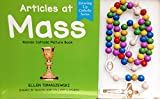 Catholic board book Articles at Mass + wooden beads rosary multicolored