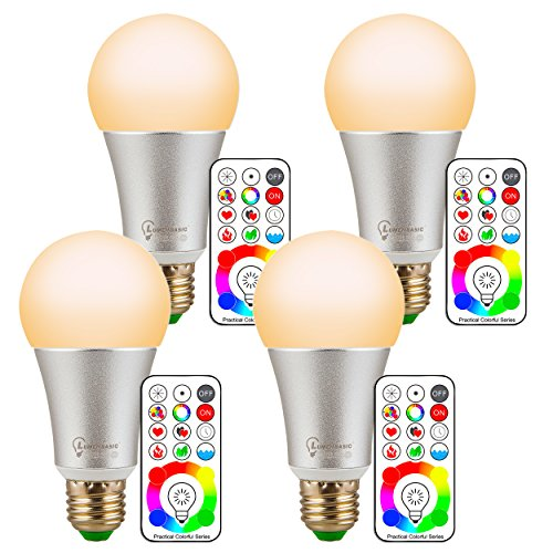 - LumenBasic 60 Watt Color Changing Light Bulbs RGB with Warm White E27 with Remote Control and Wall Switch Control Dimmable RGBWW 10w Multicolor Bedroom Lights Color and Decoration