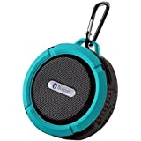 Patech Bluetooth 3.0 ワイヤレススピーカー 内蔵マイク付 吸盤式対応 防水仕様 (ブルー)