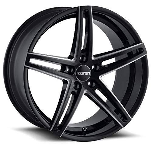TOUREN TR73 (3273) GLOSS BLACK/MILLED SPOKES: 20x10 Wheel Size; 5-120 Lug Pattern, 74.1mm Bore, 20mm -