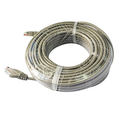 Lan Network Camera - SANNCE 15m 50feet Network Cable Cat5e RJ45 Ethernet LAN Network Cable 15 meter for Surveillance Camera system/NVR CCTV Camera System