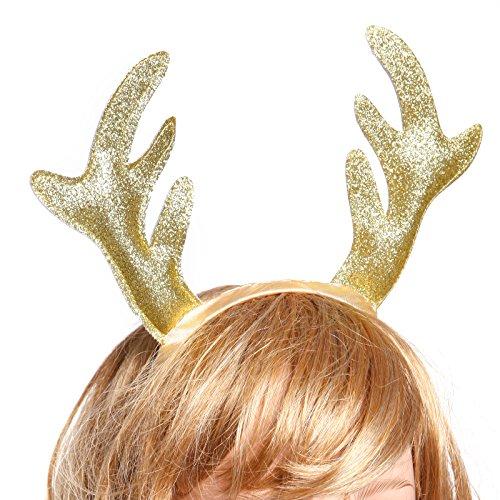 Serre Renne Deguisement Tete Noël Or Deco Enfant Cerf 7wwaAndWTq