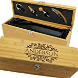Personalized Wood Wine Box - Anniversary Ceremony