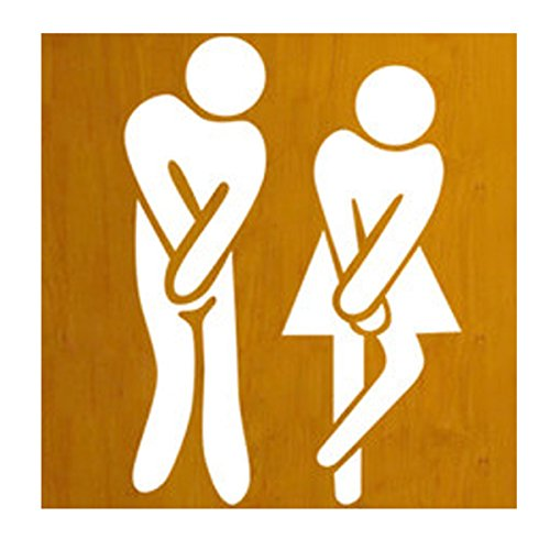 Cheap  WANGLINING Removable Cute Man Woman Washroom Toilet WC Wall Sticker Family DIY..