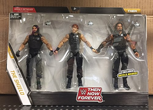 WWE, Elite Collection, Then Now Forever Seth Rollins, Dean Ambrose, and Roman Reigns (The Shield) Exclusive Action Figures (Wwe The Shield Best Moments)