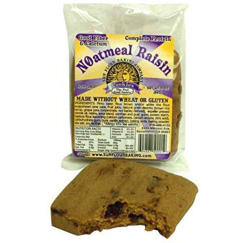 Gluten Free Noatmeal Raisin Spice Cookie, Vegan, Individually Wrapped - 3 oz (Pack of 30)