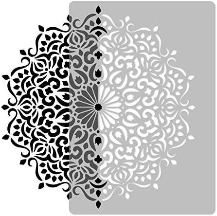 Spiral Flower Mandala #3 //// Art Craft Mylar Template Reusable Plastic Wall Stencil //// Diameter 35.0 //// Geometrical