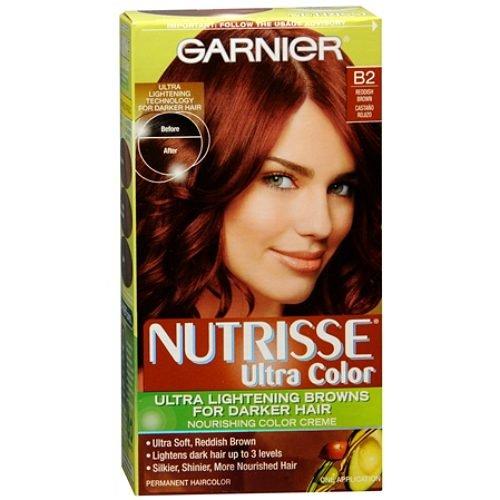 Garnier Nutrisse Nourrissante Nutri-Browns Lightening Couleur Crème Pour Cheveux foncés, brun rougeâtre B2 (café torréfié) 1 ea